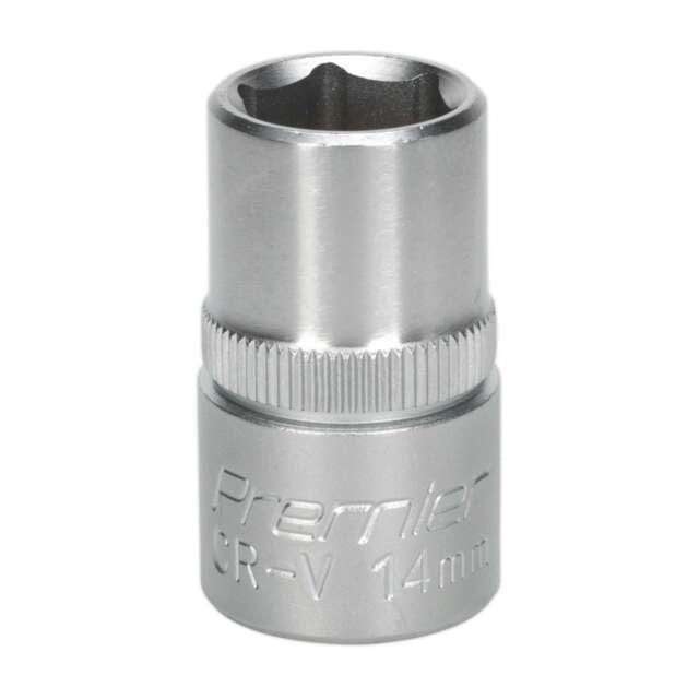 """Sealey WallDrive Socket 14mm 1/2"""" Square Drive Individual Impact Socket S1214"""