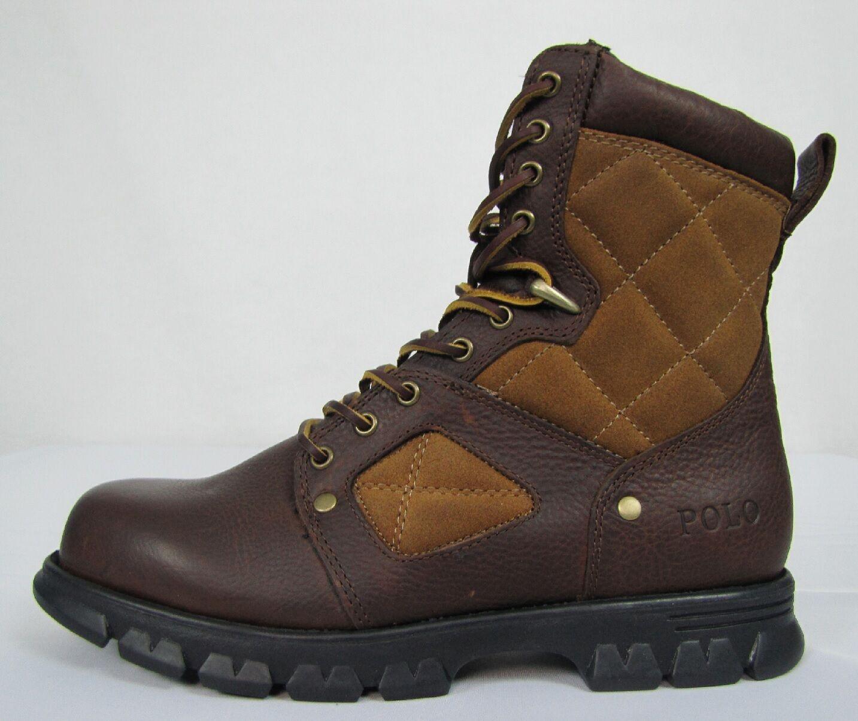 Polo Ralph Lauren mens Dennison leather boots size 8.5 NEW