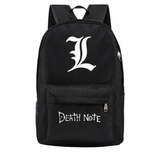 034-L-034-Death-Note-Manga-Anime-Canvas-School-Bag-Zipper-Student-Backpack-Rucksack