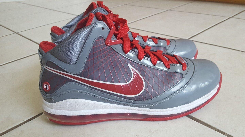 Nike Air Max Lebron VII 7 TB? OSU Size 11 Cool Grey, Varsity Red, White