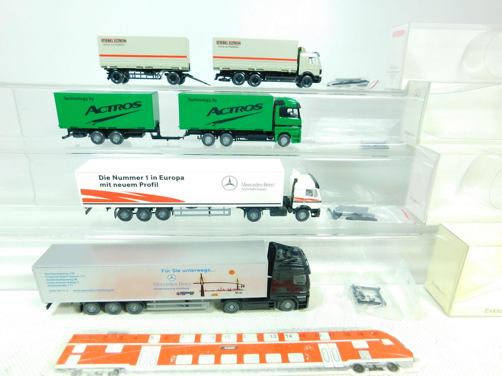 BT339-0,5 x Wiking H0 1 87 Autoarticolato MB    571+600 Actros Ecc. ,Molto Buono e1c657