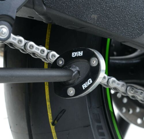 2011-2019 Kawasaki ZX10-R R/&G Racing black side stand kickstand shoe cover