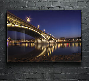 Canvas-Prints-Wall-Art-on-Fade-Proof-Glass-Photo-ANY-SIZE-Night-Bridge-p62262