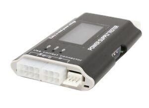 NIB LCD PC Power Supply Tester 20/24 pin 4 SATA HDD Testers