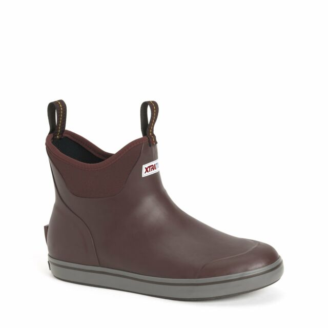 """Pick Size Free Ship XTRATUF Men/'s 6/"""" Ankle Deck Boot-Fishing Boating Gray"""