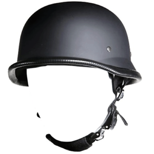 DOT German Novelty Flat Black Motorcycle Half Helmet Cruiser Biker M,L,XL