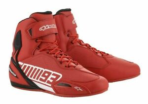 Alpinestars-Austin-collection-Motorcycle-Motorbike-Riding-Shoes-RED-WHITE