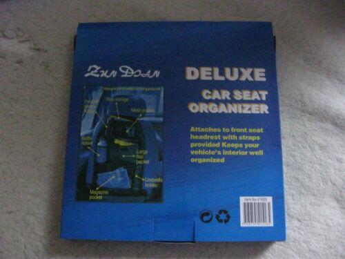 Deluxe Black Car Seat Organiser Brand New In Box