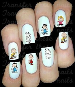 Autocollant-Stickers-ongles-Charlie-Brown-nail-art-manucure-deco-water-decal