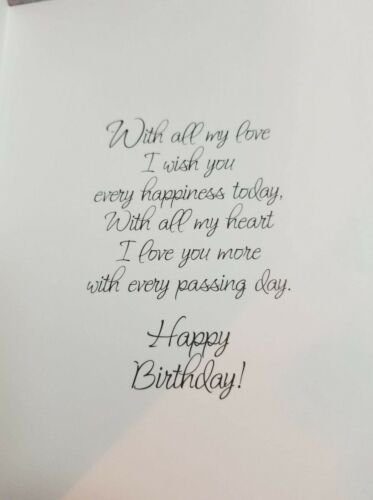 A Birthday Message For My Very Dear Wife Greeting Card Robinson Greeting Cards