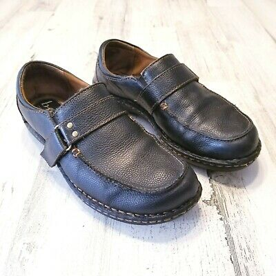 boc born womens sz 9m black leather slip on casual comfort