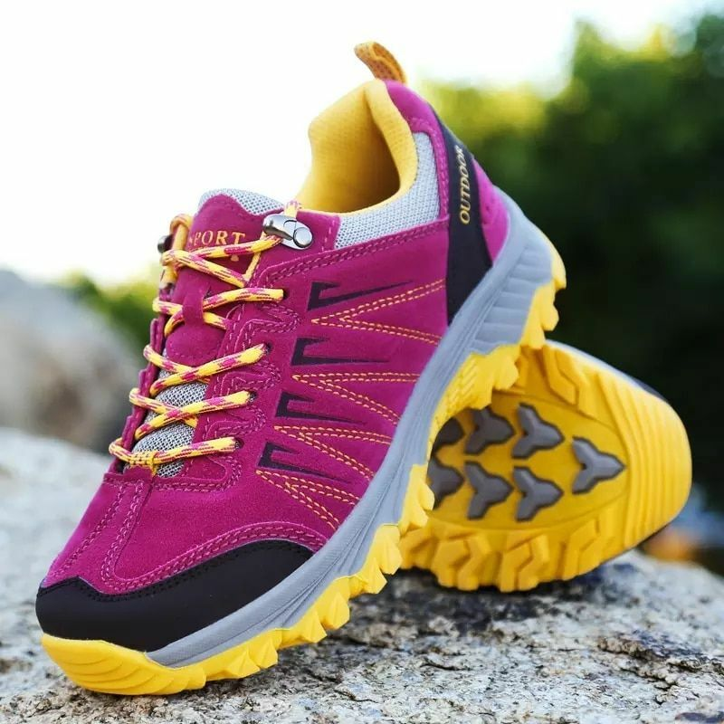 Women Hiking shoes Antislip Camping Mountain Climbing Sneakers Breathable Size S