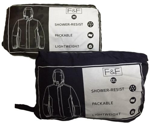 MENS KAGOOL RAIN MAC EX UK STORE SHOWER RESISTANT PACKABLE HOODED S-3XL NEW