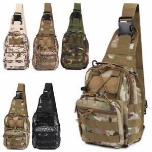Men Tactical Backpack Molle Sling Chest Pack Shoulder Bag Outdoor Hiking Travel