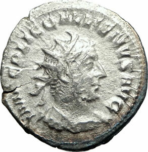 Ancient Roman Imperial Coin. Rome Mint Aggressive Gallienus Silver Antoninianus