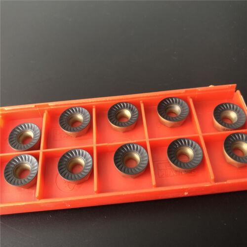 10pcs  RCKT1204M0-PM 4240 RCKT cnc milling R6 carbide insert for Tool bar