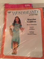 Halloween Costume Girl's Warrior Goddess (wonderland) Medium Or Large