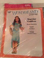 Halloween Costume Girl's Warrior Goddess (wonderland) Medium Or Large