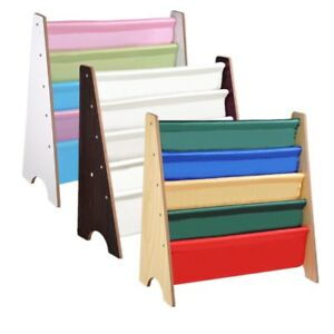 "Kids Sling Bookshelf Book Display Holder Storage Bookcase 24-7//16/""x10-7//16/""x 24/"""
