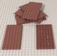 Lego X6 Reddish Brown 6x12 Plate / Building Plates Pieces / Parts Bulk Lot