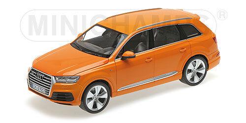deportes calientes Minichamps 110014004 Escala 1 18 ,Audi Q7 Q7 Q7 2015 Naranja 6 Aberturas   Nuevo en  los clientes primero