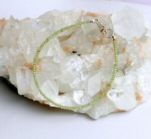 Peridot Bracelet Green Olivine Fine Faceted Ball Noble ca.7 1/8in