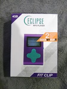 Eclipse-Fit-Clip-4GB-MP3-Player-Purple-Teal-New