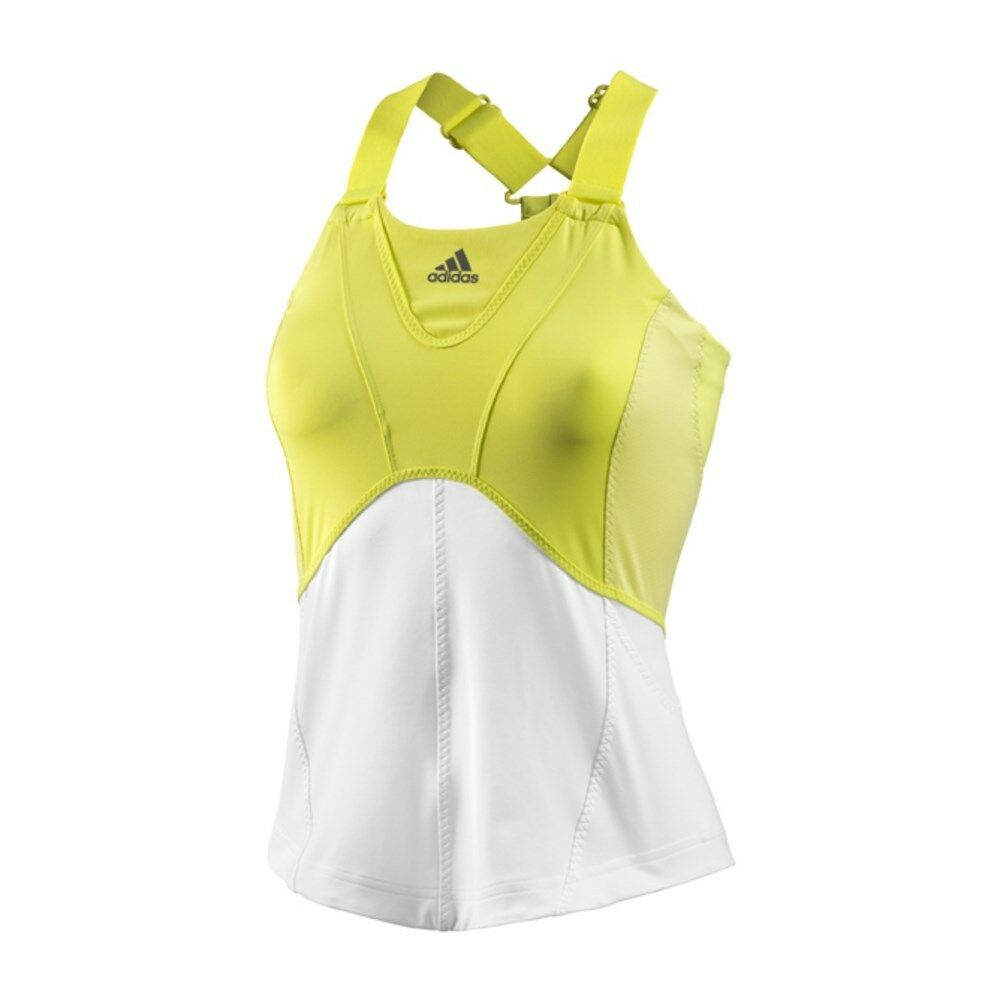 New Adidas Stella McCartneyTank Tennis Top Run Yellow White Z16751