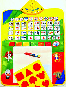 Sale 15% off!No inks,no chemicals! Russian Talking Alphabet Mat+Crayon Mat 2in1