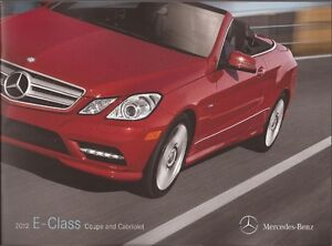 mercedes benz e class 2012 brochure