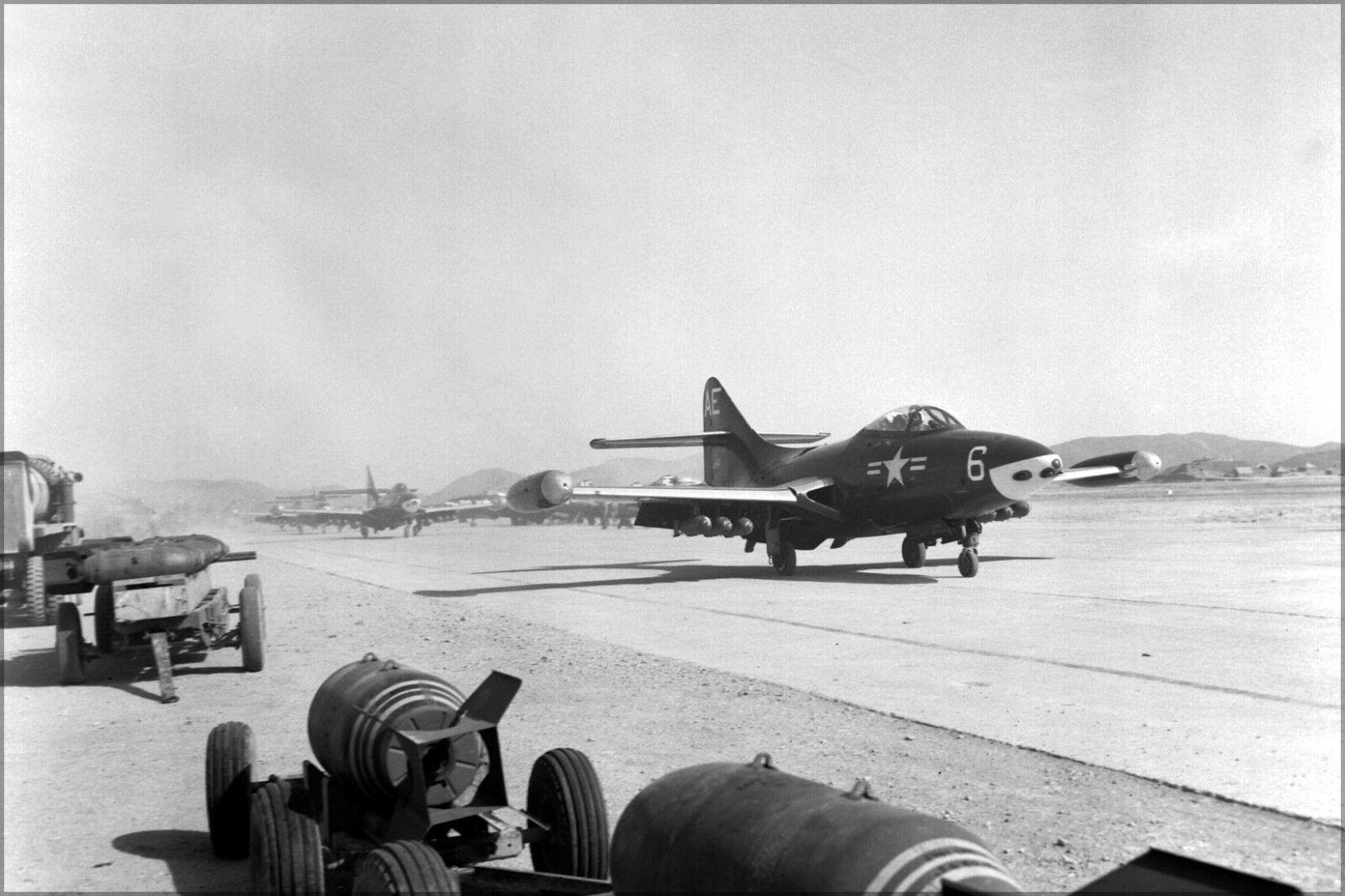 Poster, Molte Misure; F9f-2 Pantera Pantera Pantera da Combattimento Vmf-115 Able Aquile Pohang, c37f6e