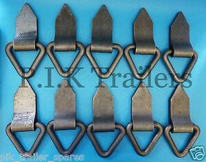 10-x-Heavy-Duty-Triangular-Lashing-Rings-Tie-Down-Trailers-Truck-Lorry