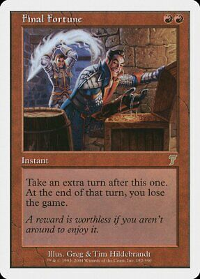 Final Fortune 6th Edition PLD Red Rare MAGIC THE GATHERING MTG CARD ABUGames