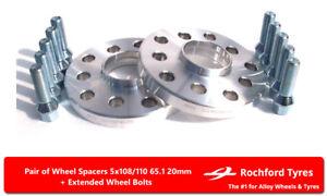 TPI 20mm hubcentric Rueda espaciadores /& Extended Rueda Pernos Astra H Vxr