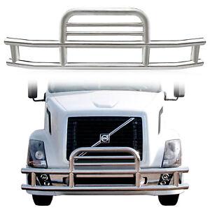 Front Deer Guard Grill Bumper Semi Truck Bracket Set For Volvo Vnl