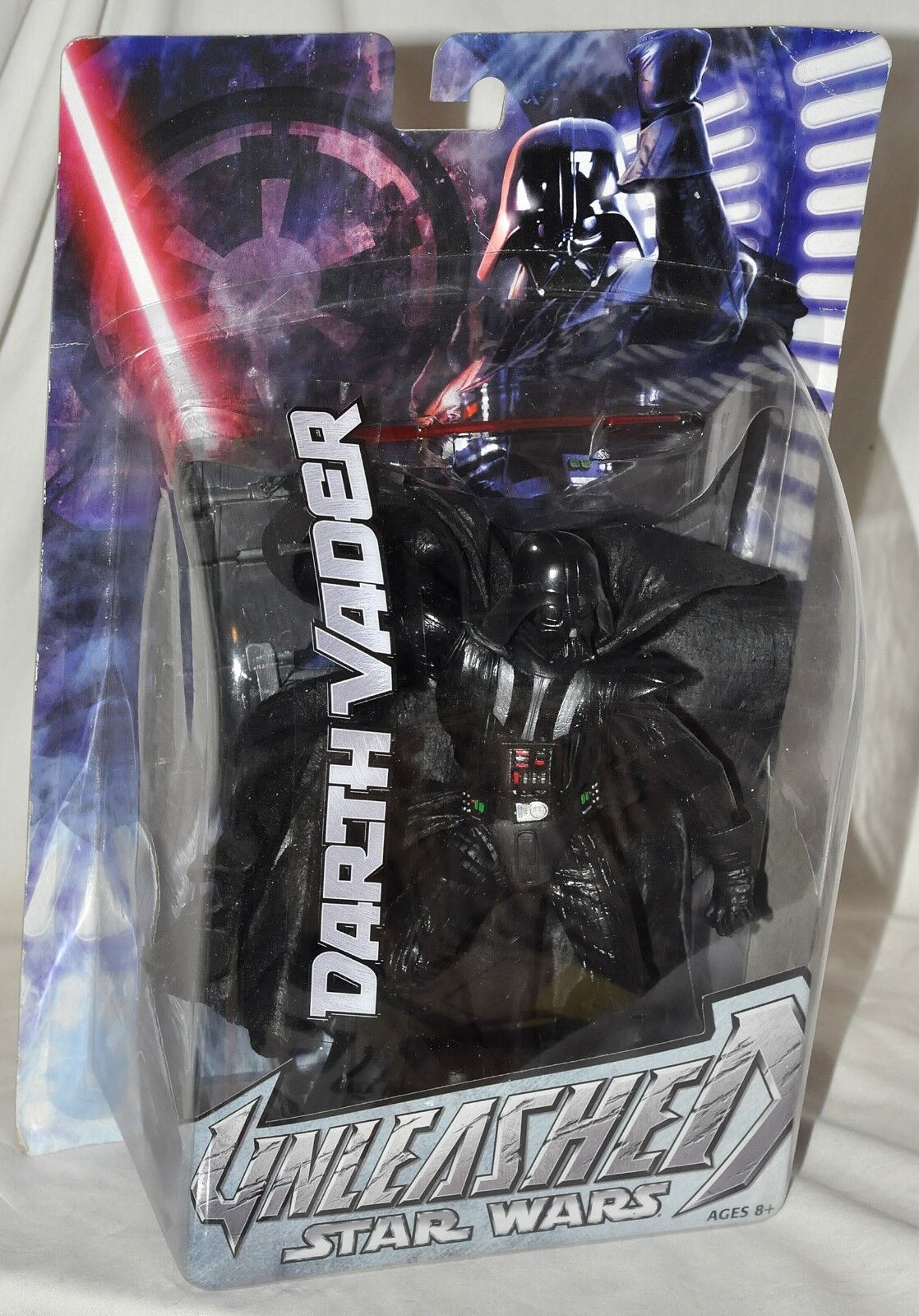 Star Wars Unleashed Darth Vader 8  figure with Stand NEW Factory Sealed 2005