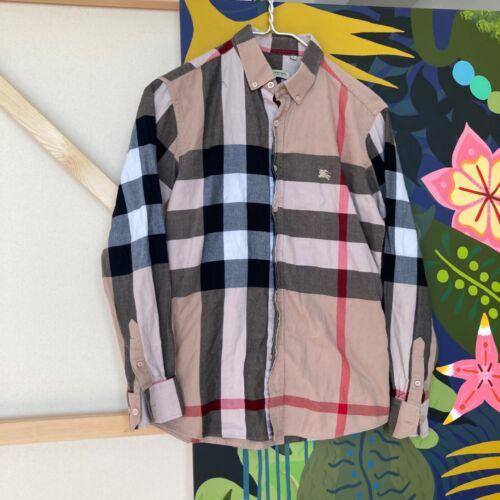 Vintage Burberry London Checkered Plaid Shirt Smal