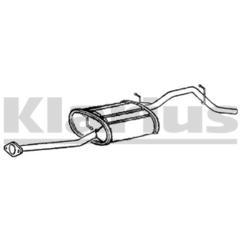 1x KLARIUS OE Quality Replacement Rear / End Silencer Exhaust For SUZUKI Petrol