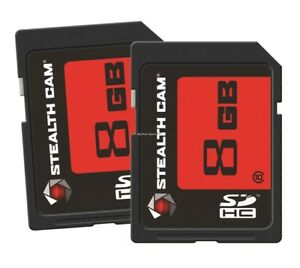 NEW-Stealth-Cam-8GB-STC-2SD8GB-SD-Card-Pack-of-2