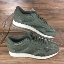 15617c95fd316 item 4 REEBOK Mens CL LEATHER SG Hunter Green Chalk Suede Trainers BS9567  Size 8.5 New -REEBOK Mens CL LEATHER SG Hunter Green Chalk Suede Trainers  BS9567 ...