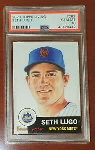 💎 2020 Topps Living Set #282 Seth Lugo Mets RARE PSA 10 GEM MINT Population 43