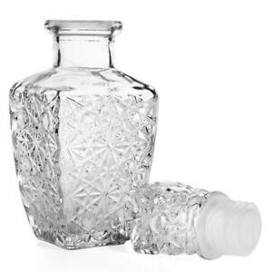 Wine Bottle Crystal Decanter Whiskey Glass Liquor Stopper Bar Vintage Scotch New