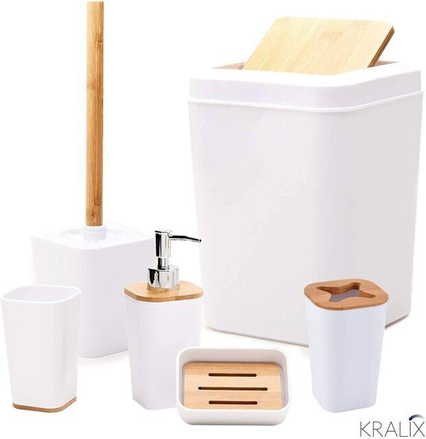 6 Pieces Plastic Bathroom Accessories