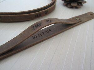 Personalized Bracelets Leather Engraved Bracelet Couples Bracelets