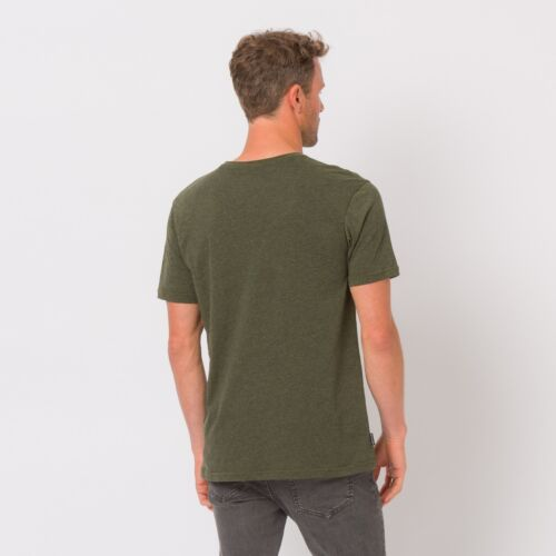 ANIMAL MENS T SHIRT.NEW LISTER COTTON GREEN CREW SHORT SLEEVED TOP TEE 8W 5 P59
