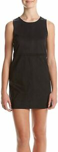 Kensie Women's Dress Classic Black Size Medium M Sheath Faux Suede $79 #162
