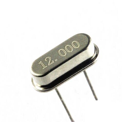 10Pcs 12.000MHZ 12MHZ 12M HZ HC-49S Crystal Oscillator New