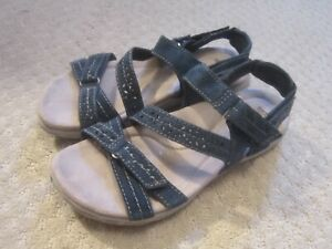 Earth-Origins-Westfield-Wendy-Navy-Blue-Suede-Sandals-Convertible-Size-8