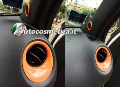 set cover arancioni  bocchette+2 tweeters per NISSAN JUKE 2010 ABS MADE IN ITALY