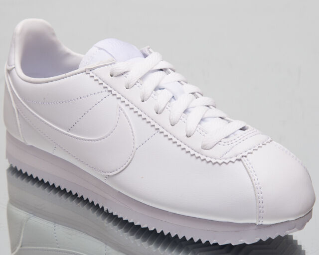Nike WMNS Classic Cortez Leather Women Lifestyle Shoes All White 807471 102 8